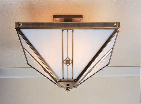 Arroyo Craftsman Utopian Four-Light Inverted Semi-Flush Mount Light