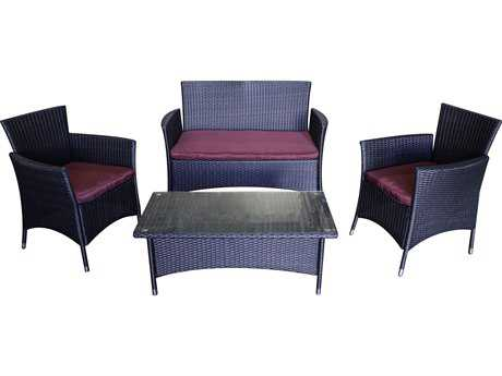 AZ Patio Heaters Wicker Lounge Set