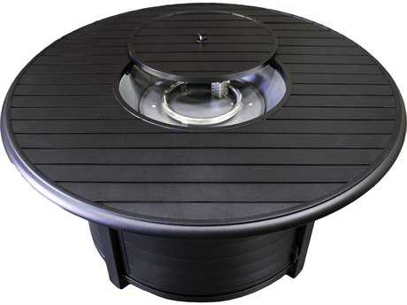 AZ Patio Heaters Round Slatted Aluminum Firepit