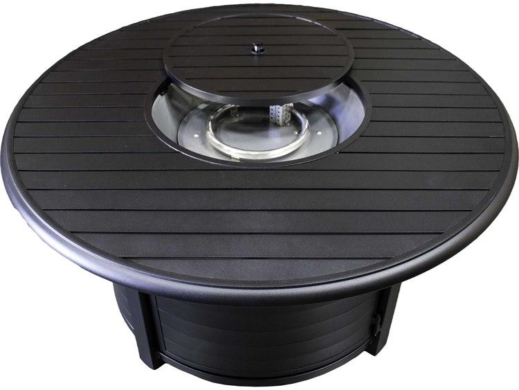 AZ Patio Heaters 48''Wide Round Slatted Aluminum Firepit