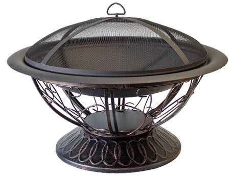 AZ Patio Heaters 30'' Wood Burning Firepit With Scroll Design PatioLiving