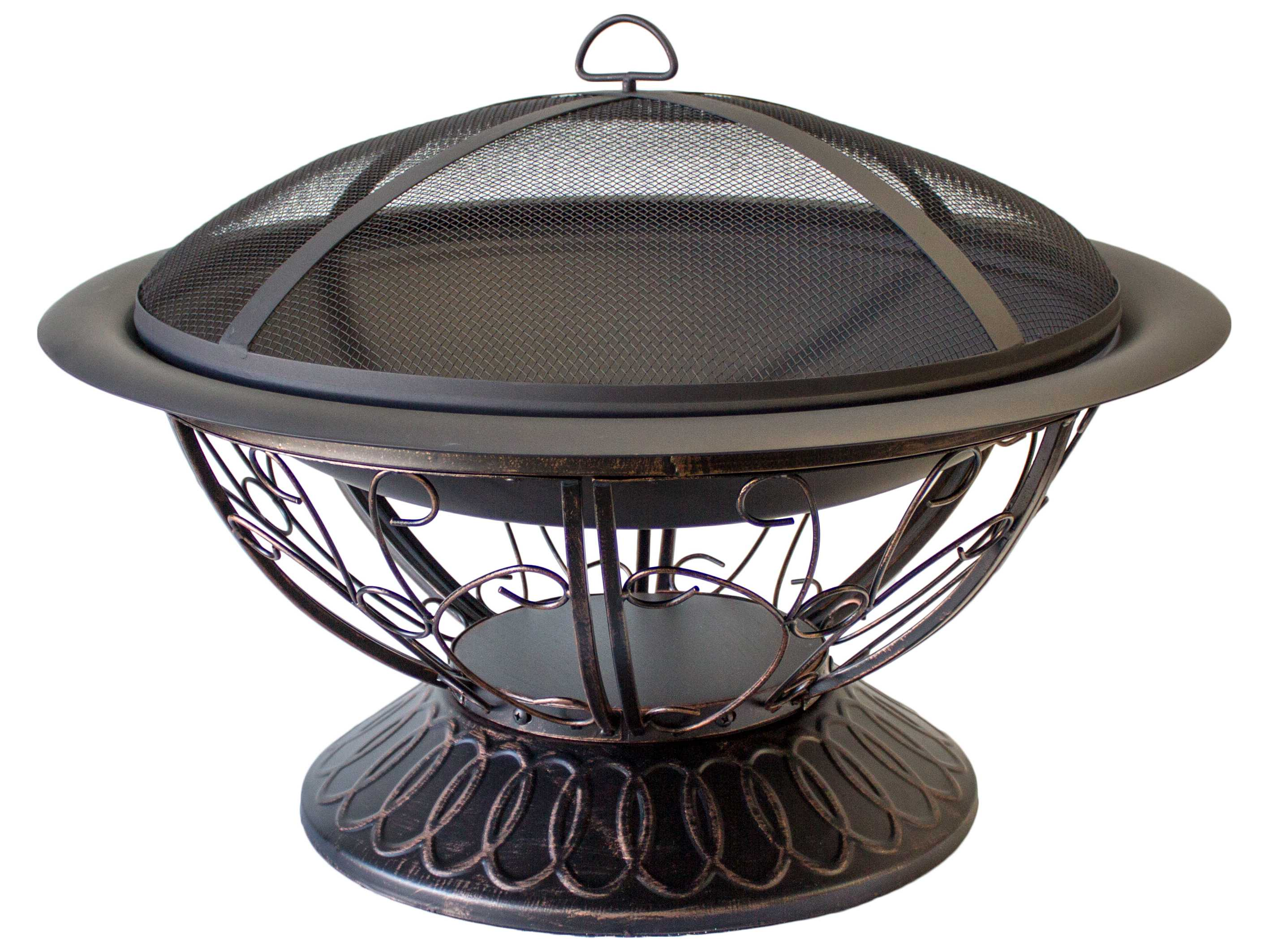 AZ Patio Heaters 30'' Wood Burning Firepit With Scroll