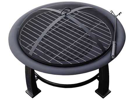 AZ Patio Heaters 30'' Wood Burning Firepit With Cooking Grate PatioLiving