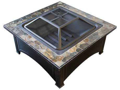 AZ Patio Heaters 36'' Slate Top Wood Burning Firepit PatioLiving