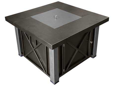 AZ Patio Heaters Decorative Bronze And Stainless Steel Firepit PatioLiving