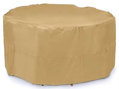 AZ Patio Heaters Medium Round Patio and Chair Cover in Camel PatioLiving