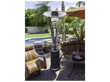 AZ Patio Heater 87 Tall Hammered Silver with Table