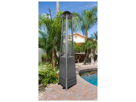 AZ Patio Heaters Commercial Stainless Steel Glass Tube Patio Heater AZHLDS01CGTSS