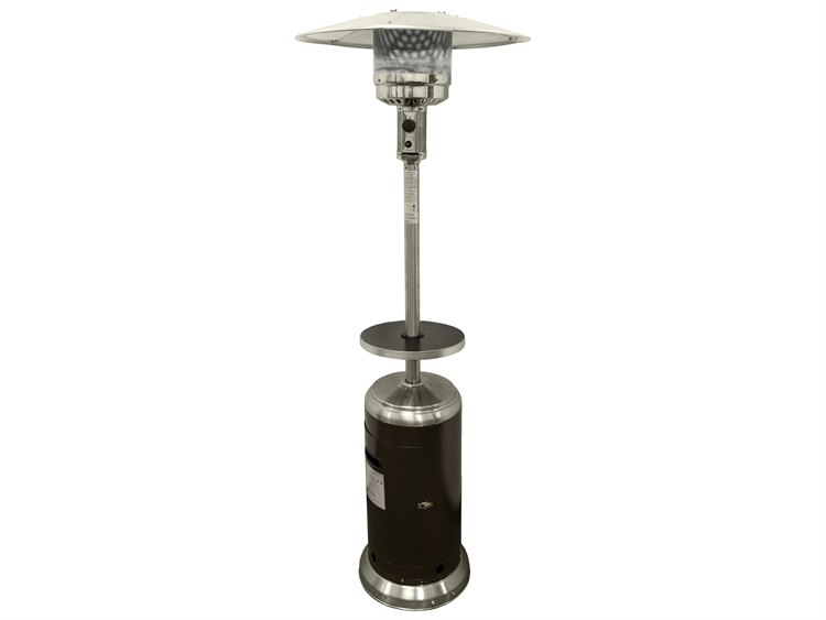 AZ 87 Tall Stainless Steel with Hammered Gold Outdoor Propane Heater PatioLiving
