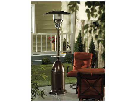 AZ Patio Heaters Tall Tapered Hammered Bronze Heater With Table