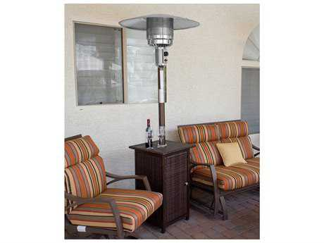 AZ Patio Heaters Tall Square Wicker Heater With Wheels