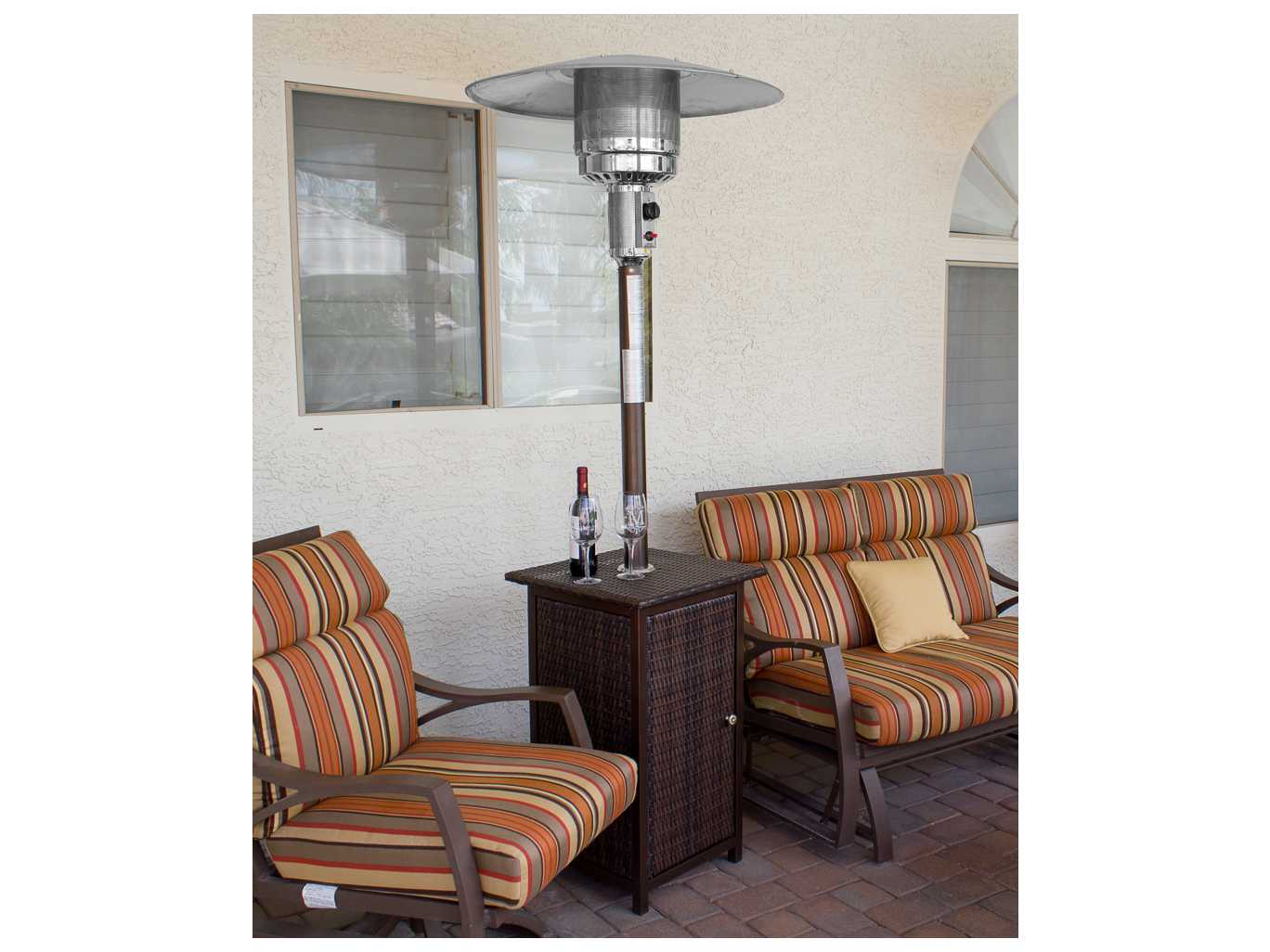 AZ Patio Heaters Tall Square Wicker Heater With Wheels