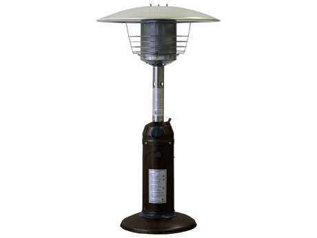 AZ 38 Portable Table Top Steel Hammered Bronze Propane Heater PatioLiving