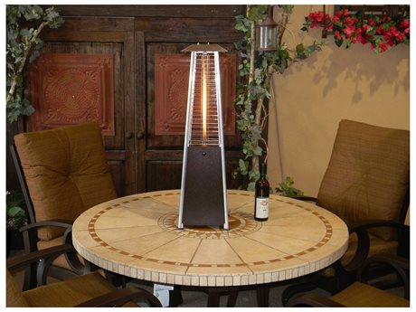 AZ Patio Heaters Portable Bronze Glass Tube Patio Heater