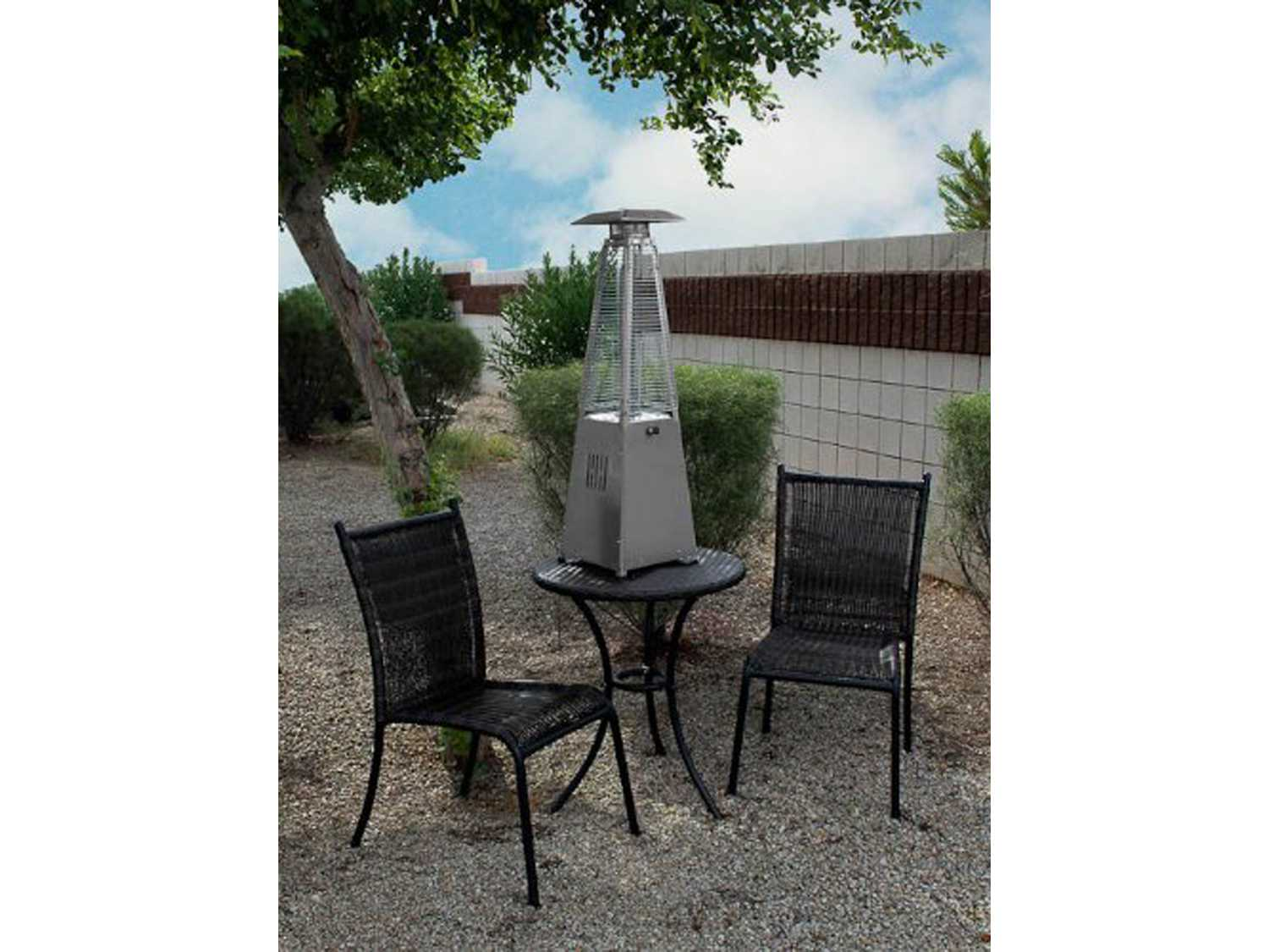 AZ Patio Heaters Portable Stainless Steel Glass Tube Patio Heater