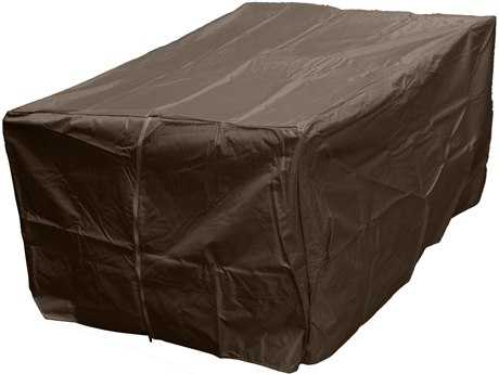 AZ Patio Heaters Rectangle Mocha Firepit Cover - Fits Fs-1010-T-12 Firepit