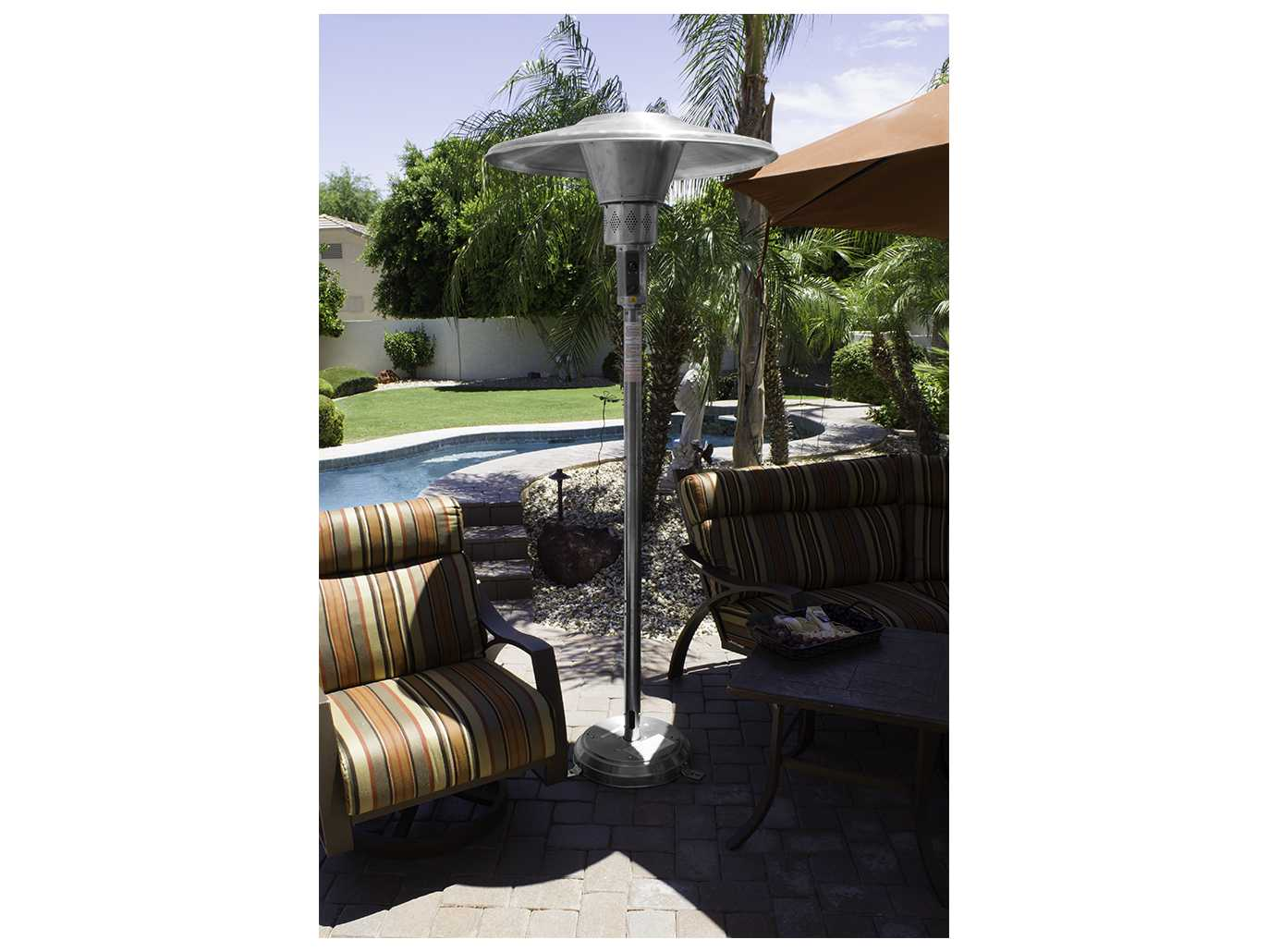 AZ Patio Heaters Commercial Natural Gas 38u0027u0027 Solid Reflector Weight Plate  46000 Btuu0027S