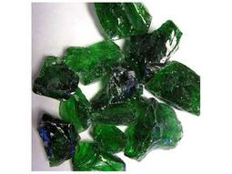 Green Recycled Fire Glass - 10 Lbs
