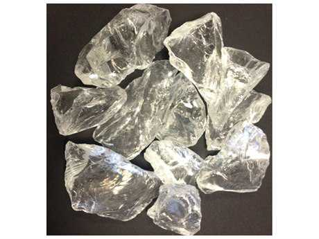 AZ Patio Heaters Ice Clear Recycled Fire Glass - 10 Lbs