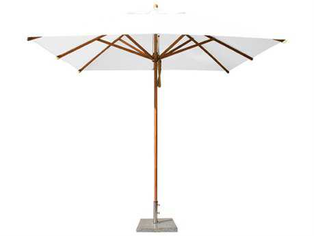 Bambrella Levante 7' Square Pulley Lift No Tilt Umbrella