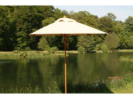 Bambrella Levante Wood 7' Square Pulley Lift Umbrella