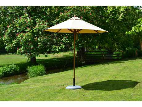 Bambrella Levante Wood 8.5' Round Pulley Lift Umbrella