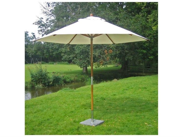 Bambrella Sirocco 9 foot Round Pulley Lift No Tilt Umbrella PatioLiving