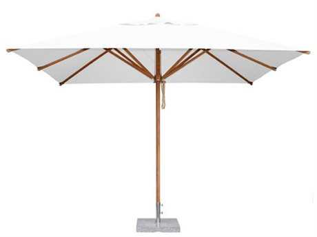 Bambrella Levante 10 x 6.5 Rectangular Manual Lift No Tilt Umbrella