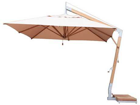 Bambrella Levante Sidewind 11' Square Crank Lift Manual Tilt Umbrella