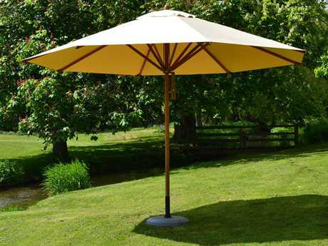 Bambrella Levante Wood 11.5' Round Pulley Lift Umbrella