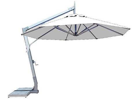 Bambrella Hurricane Side Wind 11.5 Round Crank Lift Manual Tilt Cantilever Umbrella