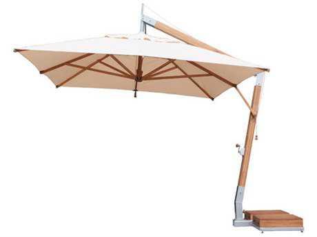 Bambrella Levante Side Wind 13 x 10 Rectangular Crank Lift Tilt Umbrella