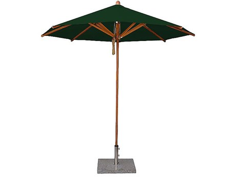 Bambrella Wood Levante 13' Round Pulley Lift Umbrella