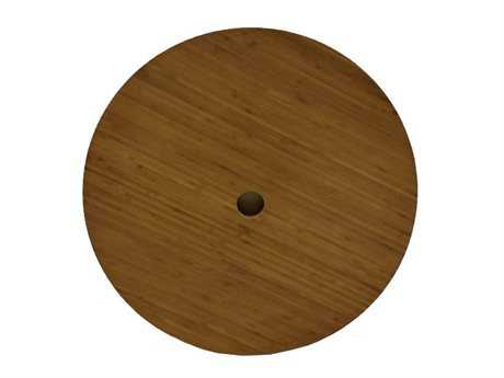 Bambrella 22 Round Bamboo Table Top with Umbrella Hole