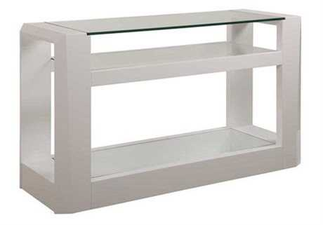 Bassett Mirror Thoroughly Modern 18 x 54 White Cristobal Console Table