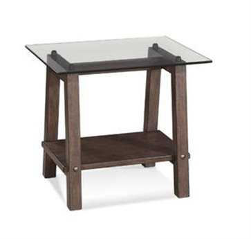 Bassett Mirror Belgian Modern 24 x 26 Rectangular Brown Ellsworth End Table