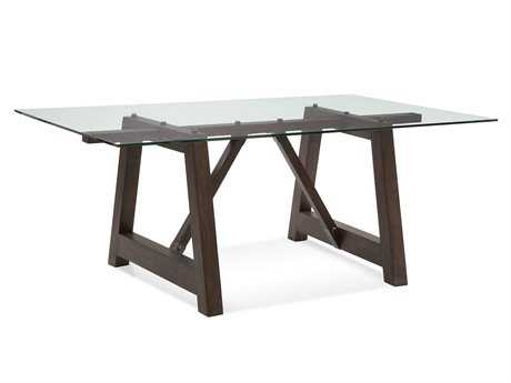 Bassett Mirror Belgian Modern 76 x 44 Rectangular Brown Ellsworth Dining Table