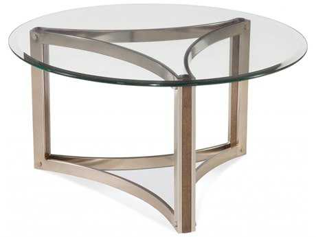 Bassett Mirror Thoroughly Modern 36 x 18 Cornell Round Cocktail Table