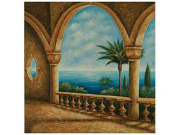 Bassett Mirror Pan Pacific Portico Canvas Wrap Wall Art