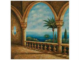 Bassett Mirror Pan Pacific Portico Canvas Wrap Wall Art