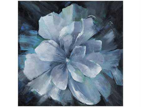 Bassett Mirror Old World Beauty in Blue Canvas Wrap Wall Art