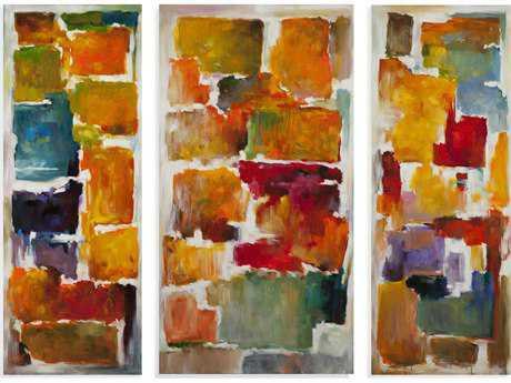 Bassett Mirror Thoroughly Modern Colorful Blocks Painting (Set of Three)