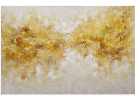Bassett Mirror Thoroughly Modern Yellow Clouds Painting