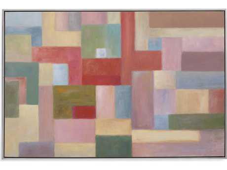 Bassett Mirror Old World Pastel Blocks Painting