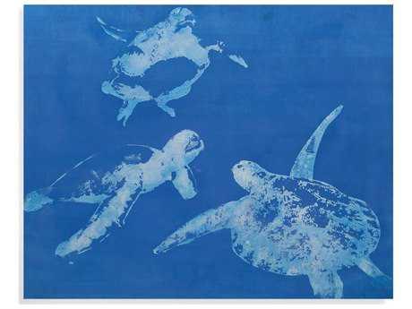 Bassett Mirror Pan Pacific Sea Turtles Painting