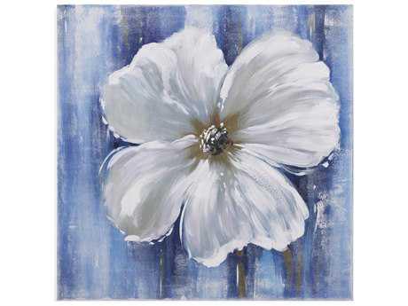 Bassett Mirror Old World Beauty in White II Painting
