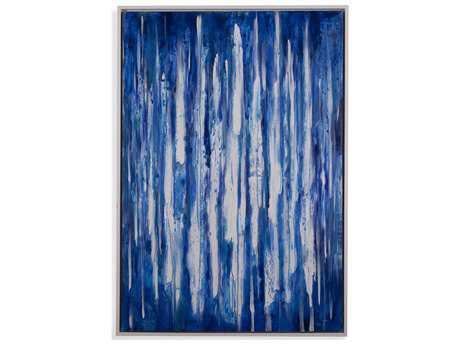 Bassett Mirror Thoroughly Modern White Lines Painting
