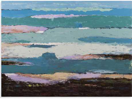 Bassett Mirror Thoroughly Modern Heather Landscape Painting