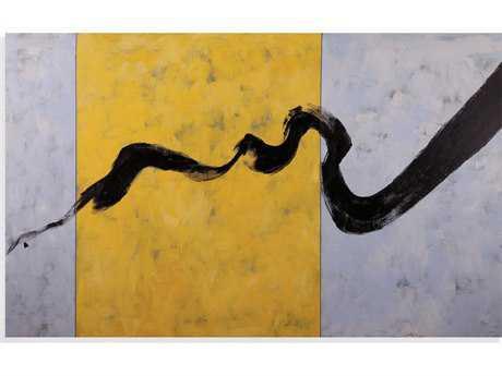 Bassett Mirror Thoroughly Modern Ribbon in Ink Painting