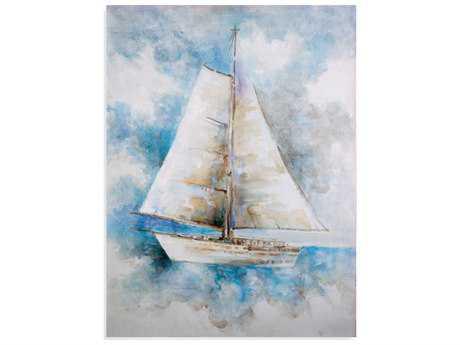 Bassett Mirror Pan Pacific Sail Ahead Painting